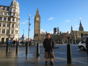 Me outside Westminster station, London.