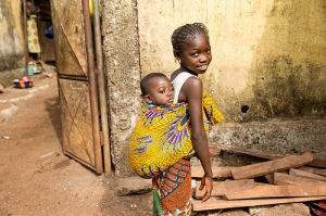 Children in Conakry, Guinea, on 14 January 2015. (Photo: UNMEER/Martine Perret)